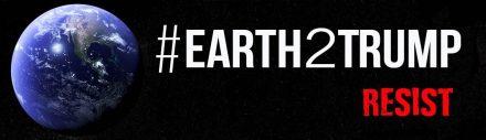 #Earth2Trump logo