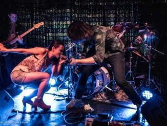 Jocelyn & Chris Arndt get down at the Silverlake Lounge in Los Angeles - photo by Stevo Rood
