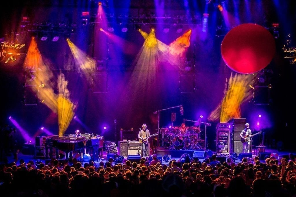 Phish in Mansfield MA by Dave Vann taken from the Phish.com website