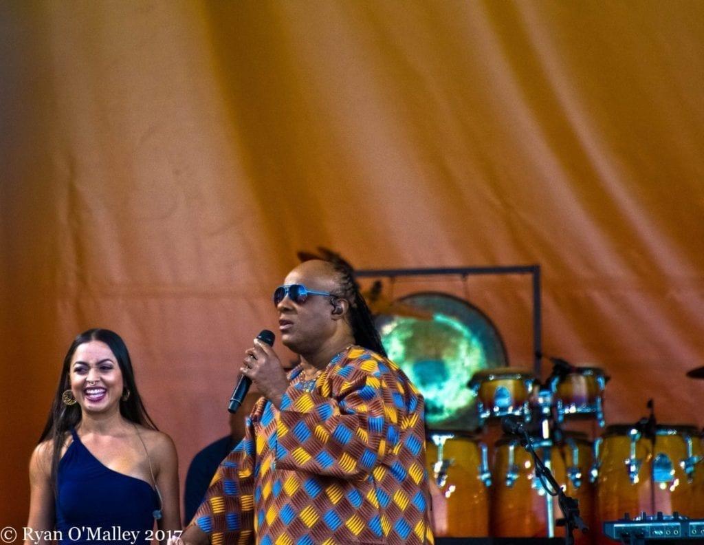 Stevie Wonder at Jazz Fest - photo by Ryan O'Malley