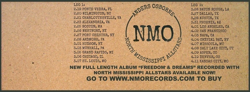 NMO tour dates
