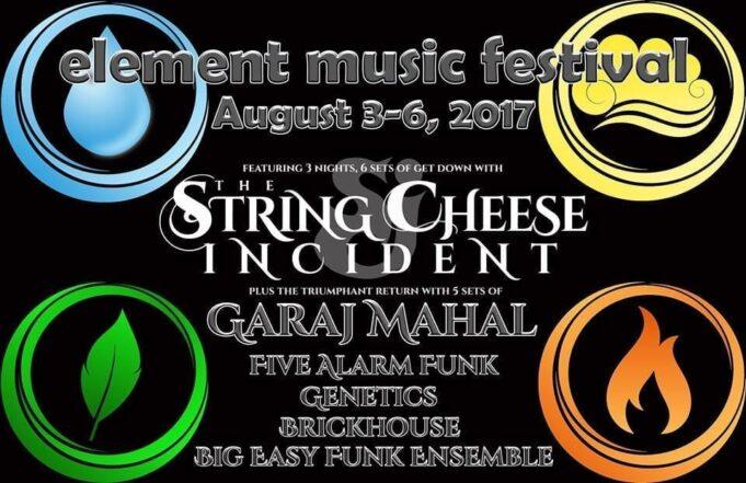Flyer for Element Music Festival 2017