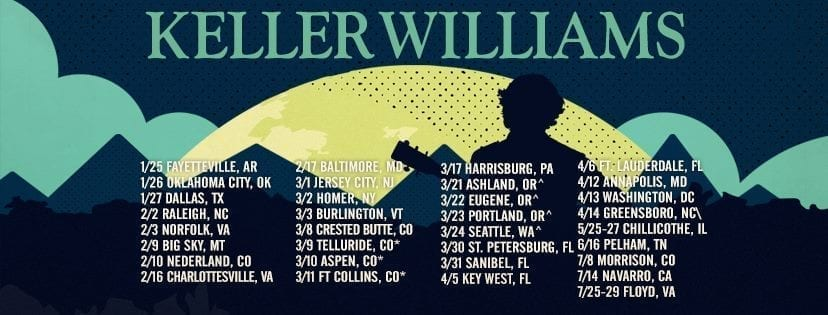 Keller Williams Gears Up For Spring 2018 Tour and Beyond