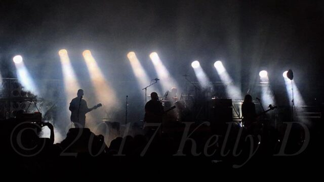 Pixies onstage at John M. Greene Hall in Northampton, MA