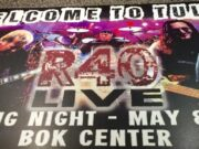 The mat that welcomed fans in the Tulsa airport